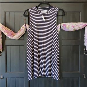 Navy and Cream Stripped Maurices Racerback Tank